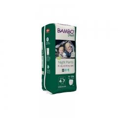 Bambo Dreamy Night Pantolon 4-7 yaşlı oğlanlar üçün gecə bezi qısa tuman 15-35kg 10pcs / pack