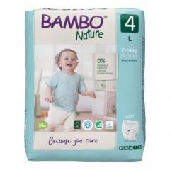 Bambo Nature 4 uşaq bezi (7-14 kq), 20 ədəd.