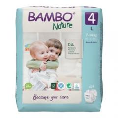Eko uşaq bezi Bambo Nature 4 (7-14 kq), 24 ədəd.